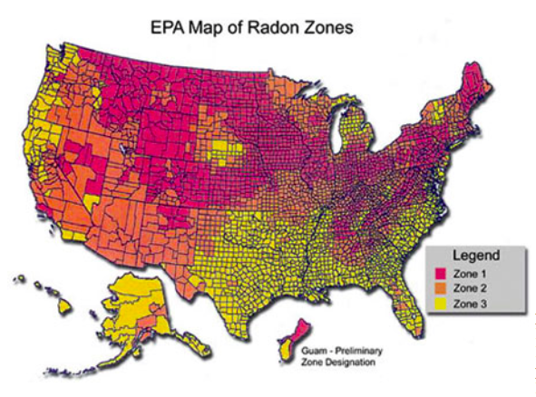radon map